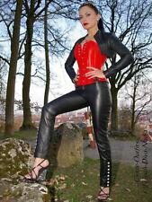 Lederhose Leder Hose Schwarz Knöpfe Maßanfertigung