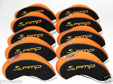 NEW for COBRA AMP 10pcs Golf Iron Headcover Orange/Black Covers Fit ALL USA FAST