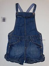 NWT BABY GAP SHORTALLS OVERALL SHORTS 4T 4 YEARS JEAN DENIM RUFFLES BLUE