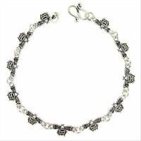"""925 Silver Bee Link Bracelet, 7"""""""