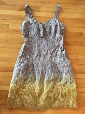 ANTHROPOLOGIE Eloise Dress, Strappy XS Gray Yellow
