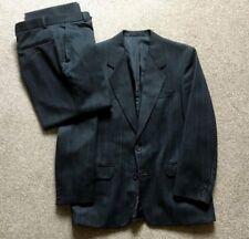 Burton Mens Grey Pinstripe 2 Piece Suit 38S Jkt 32S Trousers