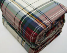 Cuddl Duds Heavyweight Red Green Blue Multi Colors Plaid Flannel King Sheet Set