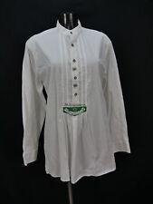 Gr.M Trachtenhemd AS weiß Baumwolle Edelweiß Stickerei Trachten Hemd TH1471