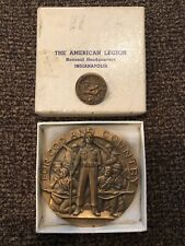 US MARINES MEDALLIC ART Bronze Medal AMERICAN LEGION SCHOOL AWARD & Pin