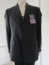 "New M&S Sartorial Savile Row 100% Wool Jacket Blazers Charcoal Grey 40"" LONG"