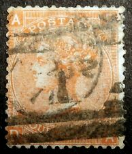 GB - 1865: Queen Victoria 4p vermillon, Scott# 43