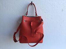 FURLA 820890 B BEH3 B30 Stacy Bucket Bag Saffiano Printed Leather Orange $328