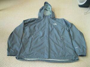 The North Face Resolve Hyvent Nylon Waterproof Wind Rain Jacket Blue Women 2XL