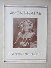 November 29th, 1931 - Avon Theatre Playbill - The Wives Of Henry VIII - Skinner