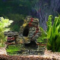 Aquarium Mountain View Rock Cave Tree Bridge Fish Tank Ornament Decoration Best