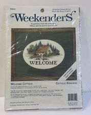 Counted Cross Stitch Welcome Cottage # 03510 With Matt Weekenders Made in USA