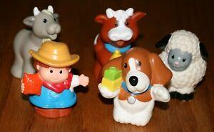 5 Fisher Price Little People Farmer Farm Barnyard Animals LPPL Lot L