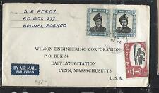 BRUNEI  (P3008B) 1964   SULTAN 15CX2 +$2.00   A/M TO USA