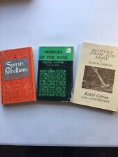 Kahlil Gibran-3 Books; Spirits Rebellious, Mirrors Of Soul, Between Night & Morn