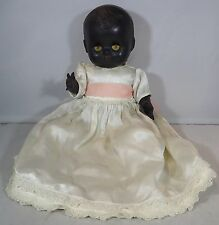 "VINTAGE 1950s 11"" HARD PLASTIC ROSEBUD BLACK BENT-LIMB BABY DOLL"