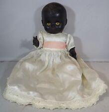 "VINTAGE 1950s 11"" HARD PLASTIC ROSEBUD BLACK BENT-LIMB BABY DOLL"