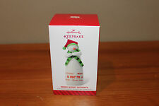 Hallmark 2014 Merry Wishes Snowman Limited Ornament - NEW IN BOX
