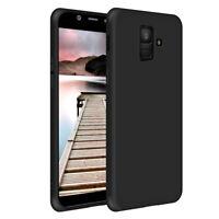 SDTEK Samsung Galaxy A6 (2018) Matte Funda Carcasa Case Bumper Silicone (Negro)