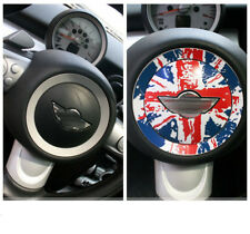 Car Steering Wheel Sticker Logo Round Decal Trim Fit For Mini Cooper F55 R56
