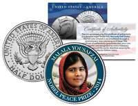 MALALA YOUSAFZAI * 2014 NOBEL PEACE PRIZE * Colorized JFK Half Dollar U.S. Coin