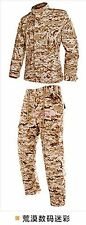Mens Camouflage Army Outdoor Suits Coat Jacket&Pant Military Training Cotton Hot