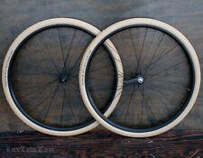 "28"" Cruiser Bicycle WHEELS Tires Vintage TOC Prewar Schwinn Wood Rim Hub Bike 29"