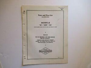 Briggs & Stratton WI WIBP WR engine parts list manual catalog