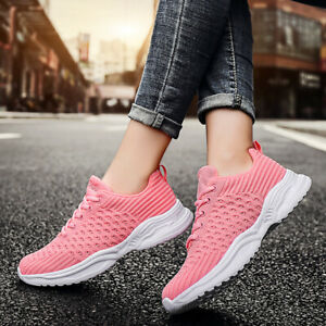 Womens Sport Shoes Sneakers Lightweight Breathable Walking Running Gym Fitness