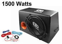 """12"""" Bass box car audio sub woofer built in amp active amplified 1500 watts Loud."""