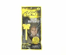 Yellow Butterfly Wand- Glow in the Dark, Light Stick, Halloween, 8 Inches