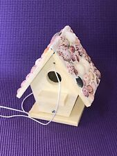 New hand crafted Brown Wood  wren/chickadee bird house Florida model