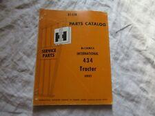 International McCormick 434 tractor parts catalog book manual