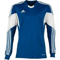 adidas Men's Tiro 13 Long Sleeved Climacool Football Jersey T Shirt Blue & White