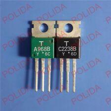 1pair OR 2PCS TOSHIBA TO-220 2SA968B-Y/2SC2238B-Y 2SA968B/2SC2238B A968B/C2238B