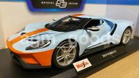 Maisto 1:18 Scale - Ford GT 2019 - Blue / Orange - Diecast Model Car