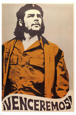 WE WILL WIN che guevara LEFTIST REVOLUTIONS POSTER 24X36 Mexico 1970 RARE!