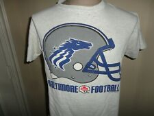 True Vintage 90's Gray Baltimore Stallions DEFUNCT CFL Football Tshirt Adult M