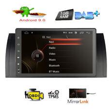 "9"" Android 9.0 Car Head Unit Stereo Radio GPS DAB+USB For BMW X5 E53 525i"