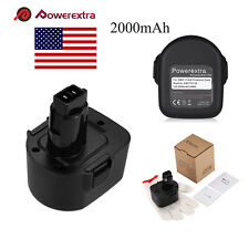 Powerextra 12V 2000mah Battery for Black&Decker PS130 FireStorm A9252 A9275
