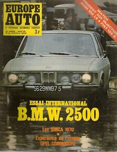 EUROPE AUTO 1969 29 BMW 2500 AUDI 100 LS FIAT 125 S PEUGEOT 504 INJ GP DE FRANCE
