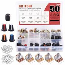 Hilitchi 25 Pcs Complete Models Potentiometer Assortment Kit With 5k 100k Ohm Kn