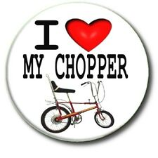 I LOVE MY CHOPPER.70'S BICYCLE RETRO LARGE 55 MM BADGE
