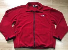 The North Face Full Zip Fleece Jacket Women's Size Large Red And White