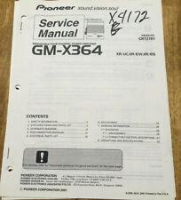 PIONEER GM-X364 POWER AMPLIFIER ORIGINAL SERVICE REPAIR MANUAL