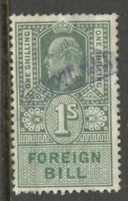Edward VII - 1s -  Green - Foreign Bill - Used