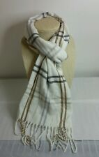 Cejon Made In Italy Woman's Scarf Plaid Gray/Blue/Brown