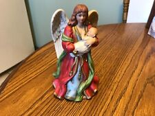 Homco Angel holding child porcelain figurine #1432, 7.5� tall