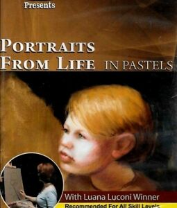 PORTRAITS FROM LIFE IN PASTELS WITH LUANA LUCONI INSTRUCTION NEW FREE SHIP US