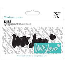 DOCRAFTS X-Cut Mini sentimiento Die-con Amor Troquelado Artesanías